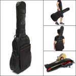 "41"" Thick Padded Guitar Bag Carry Case Double Shoulder Straps Black"