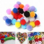 50pcs 1cm Colorful Fluffy Pompoms Balls DIY Hand Made Clothing Sewing Accessories