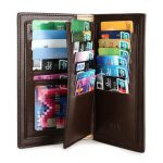 Men Business Long Genuine Leather Portable Card Holders Wallet