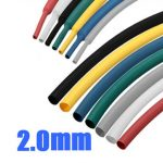 3/32 Inch 2.0MM Heat Shrink Wire Wrap Assortment Cable Sleeve Tube