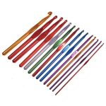14pcs Multicolor Aluminum Crochet Hooks Knitting Needles