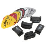 New Guitar HeadStock Rubber Pick Holder With 2pcs Guitar Picks