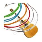 6 Rainbow Colorful Color Strings Set For Acoustic Guitar 1M