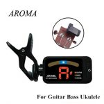 AROMA AT-100 Guitar Bass Ukulele Clip-On Digital Guitar Tuner