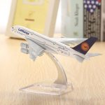 WH A380 Lufthansa Airplane Aircraft Model 16cm Airline Aeroplan Diecast Model Collection Decor