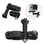 3 Way Pivot Arm Extension Link Helmet Mount and Thumb Screw For GoPro Hero 3 3 Plus 4