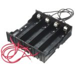 ABS Black Battery Holder 4×18650 AA Battery Case Storage Box