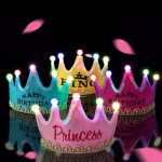 LED Birthday Crown Hairband Kids Toy Birthday Holiday Stage Performance Decoration
