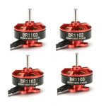 4X Racerstar Racing Edition 1103 BR1103 8000KV 1-2S Brushless Motor Red For 50 80 100 Multirotor