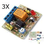 3Pcs DIY Light Operated Switch Kit Light Control Switch Module Board With Photosensitive DC 5-6V