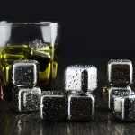 6Pcs Stainless Steel Whisky Stones Cube Glacier Whiskey Rocks Wine Cooler Set Bar Tools