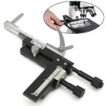 Microscope Attachable Mechanical Stage X-Y Moveable Stage Caliper With Scale