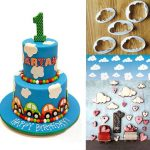 5Pcs Plastic Cloud Cake Cookie Buscuit Cutter Mold Fondant Mould Cake Decorating Tools Sugarcraft