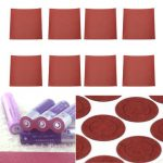 8Pcs DIY Red Fish Adhesive Paper For Electrical 18650 Battery Insulating Cover