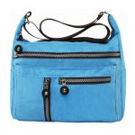 Women Nylon Multilayer Zipper Pockets Shoulder Bags Outdoor Light Crossbody Bags