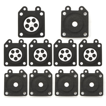 10pcs Carburetor Gaskets Metering Diaphragm Assembly For