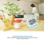 LCD Digital Kitchen Cooking Timer Loud Alarm Count Down Clock