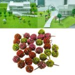 Mixed 30Pcs Flower Trees Model Train Garden Scenery Landscape Scale 1:100