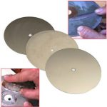 3pcs 8 Inch Diamond Coated Flat Lap Wheel 600/1200/2000 Grit Lapidary Grinding Polishing Wheel