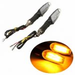 12V 12LED Motorcycle Turn Signal Indicators Soft Handle Blinker Light Universal