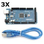 3Pcs Geekcreit MEGA 2560 R3 ATmega2560-16AU MEGA2560 Development Board With USB Cable For Arduino