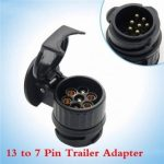 Tirol 13 to 7 Pin Trailer Adapter Plastic Trailer Wiring Connector 12V Tow Bar Towing Plug Black