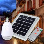 Remote Contorl 4 in 1 Solar Power 12 White LED Lamp Bulb Garden Balcony Outdoor Emergency Light
