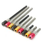 3Pcs 1/4inch Hex Screwdriver Extension Bits Self-locking Magnetic Extension Holder