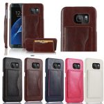 Multifunctional PU Leather Back Cover Card Bag Holder Phone Case for Samsung Galaxy S7 Edge