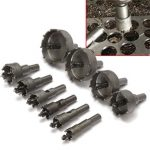 10pcs 16-53mm TCT Carbide Alloy Hole Saw Cutter Set Drill Bit