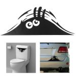 Car Toilet Monster Bathroom Decal Seat Decor Removable DIY Wall Art Stickers