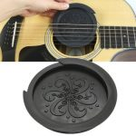 Black Rubber Sound Hole Cover Buffer Protector for 40 41 Inch Acoustic Guitar