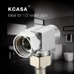 """KCASA""""¢ Copper Three Way Connection Angle Valve Bathroom Kitchen Water Diverter Faucet Accessories"""