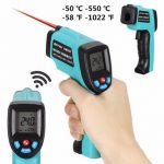 GM550 Digital Non-Contact LCD IR Infrared Laser Point Handheld Temperature Tester Gun Thermometer -50~550