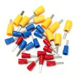 Flat Blade Crimp Terminal Insulated Electrical Connector – Red Blue Yellow