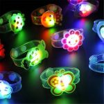 LED Colorful Cartoon Wristband Bracelet Flashing Kid Toy Handband for Party Christmas Decoration