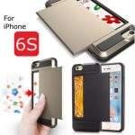 Protective Hidden Wallet Case With Card Slot ID Holder TPU PC Case For iPhone 6 6s 4.7 Inch