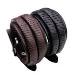 Adjustable Leather Multi Layers Woven Men Bracelet Jewelry Clothing Accessories