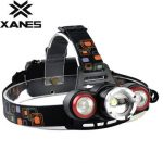 XANES XQ-117 600 Lumens T6 2x LED Bicycle Headlight Mechanical Zoom Outdoor Sports 4 Modes Adjustable Headlamp