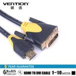Vention VAA-T01-B HDMI to DVI Cable HDMI Male to DVI Male 18 1Pin Cable Adapter Support 1080P 3D
