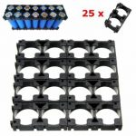 25pcs Double Bracket 18650 Battery Spacer Radiating Shell Plastic