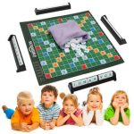 Scrabble Board Game Brand Crossword Game Letters Tiles For Family Kids Friends Junior Travel