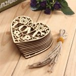 10pcs Heart Love DIY Wood Craft Hanging Decoration Craft Gift