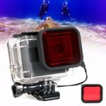 Waterproof Diving Scuba Red Filter Lens with Strap For Gopro Hero 5 Housing Case