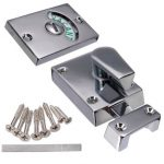 Nickel Drawing Chroming Bathroom Toilet Door Lock Indicate Door Bolt