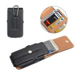 ENKAY Waist Bag PU Stone Texture Leather Phone Bag Wallet Case for iPhone Samsung Xiaomi Sony