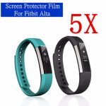 5Pcs Anti Scratch Clear Screen Protector Films For Fitbit Alta Fitness Tracker