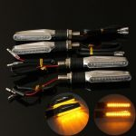 4pcs Motorcycle LED Turn Signal Indicator Amber Light
