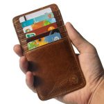 Men Genuine Leather Multi-function Card Holder 12 Card Slots Credit Card Holder