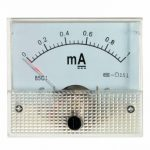DC 0-1mA Analog Amp Meter Measurement Ammeter Current Panel with Screws White